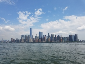 Manhattan skyline from the dinghy