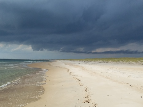 Storm brewing over Shackleford Banks