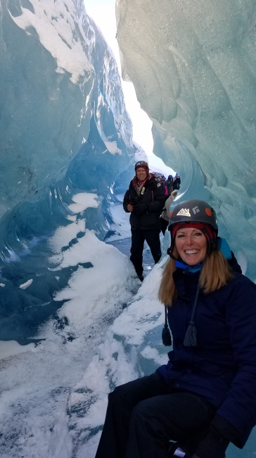 Inside an icecave