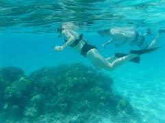 Lindsey, Ryan and Scott snorkeling