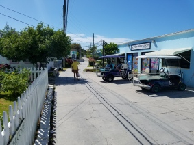 The main thoroughfare, Queen Street, and the grocery store.
