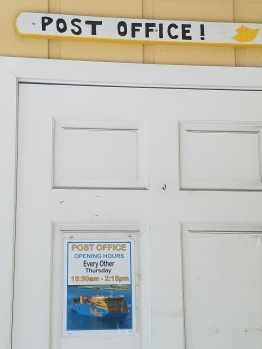 Post Office in Great Guana, open every other Thursday 10:30-2:15.