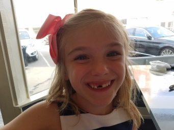 Eva lost her tooth!