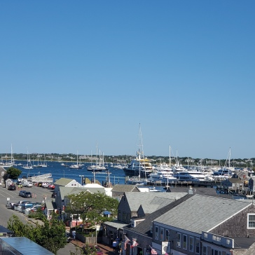 Views of the busy harbor. We've never seen so many Hinckley yachts in one place!
