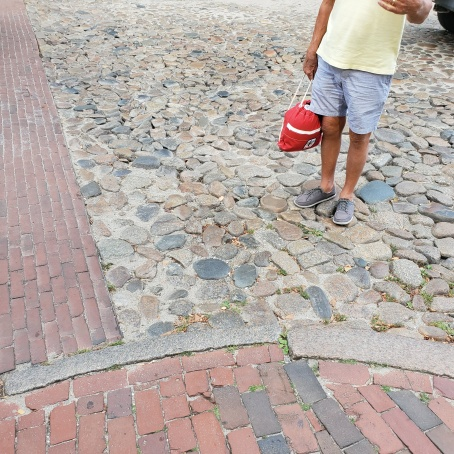 We loved the cobblestone streets with brick paths for crossing.