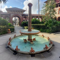 Sundial and fountain