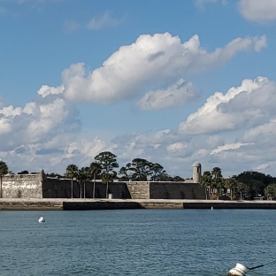 Castillo de San Marcos from our mooring ball.