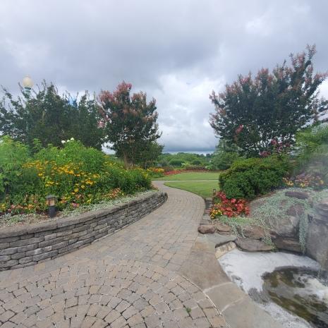 Lush gardens at Herrington Harbor South.